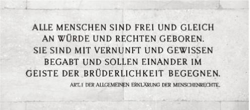 'Erklärung der Menschenrechte Art. 1