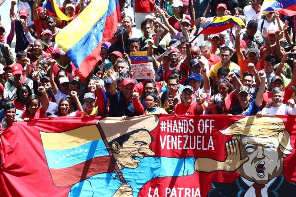 Demonstration:  Hands off Venezuela